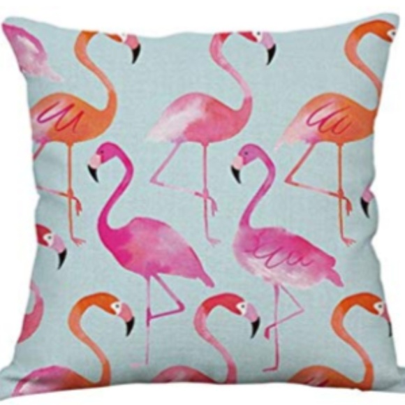 """Other - NEW PINK & CORAL FLAMINGO 18x18""""  PILLOW CASE"""